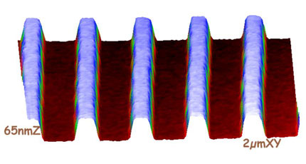 AFM scan of holographic grating
