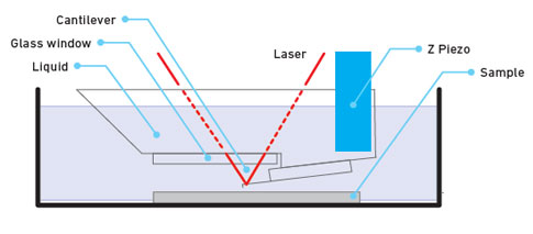Diagram of liquid imaging