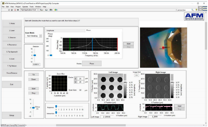 Atomic force microscopy scanning software