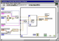 LabVIEW software window for Atomic Force Microscope